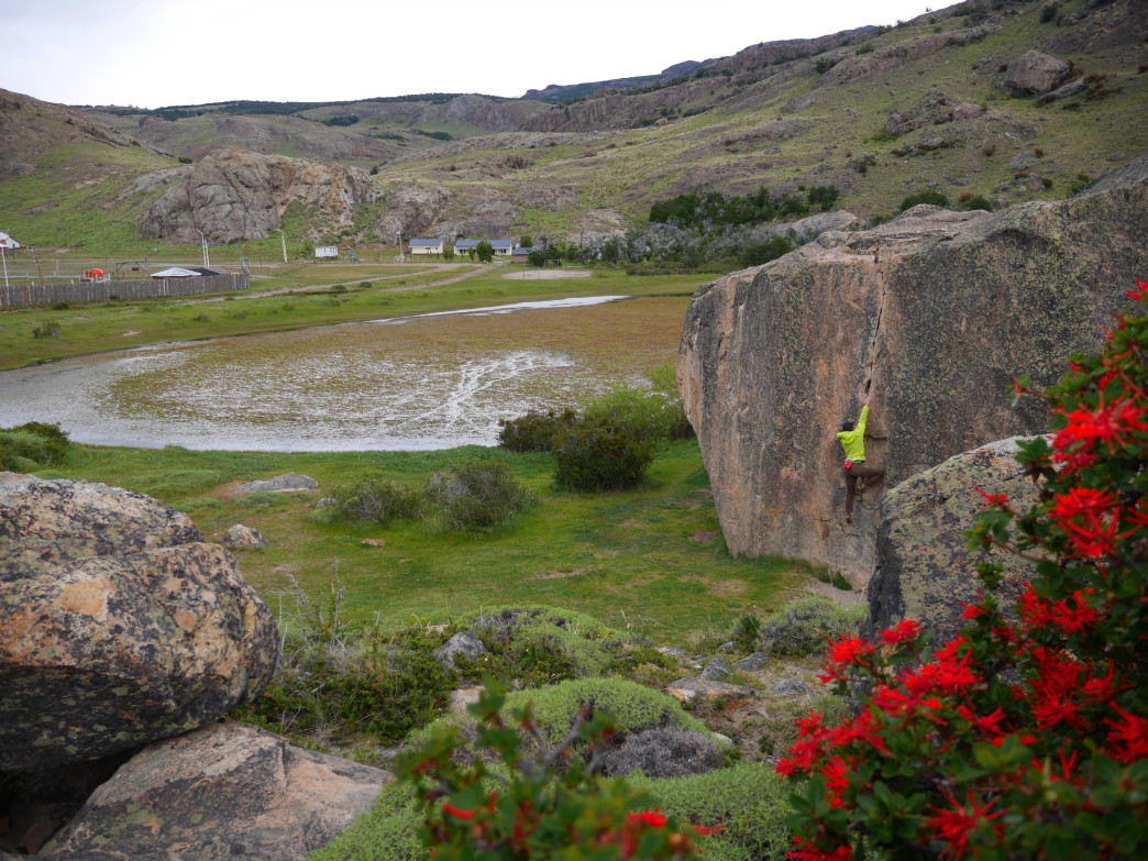 Bouldering in Patagonia, Courtesy of Scott Bennett