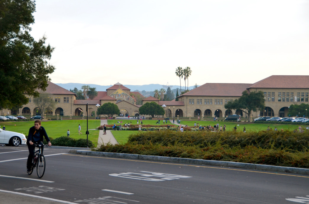 Stanford's academic reputation often overshadows its exquisite setting.