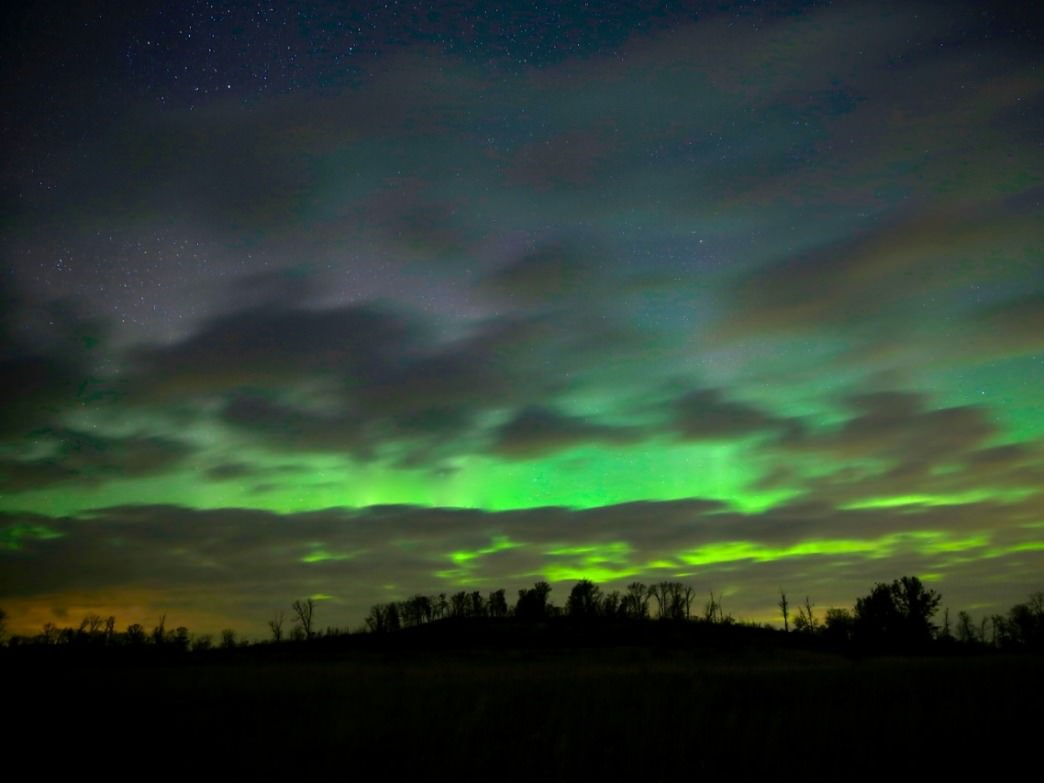 If you're lucky, you can catch a glimpse of the Northern Lights.
