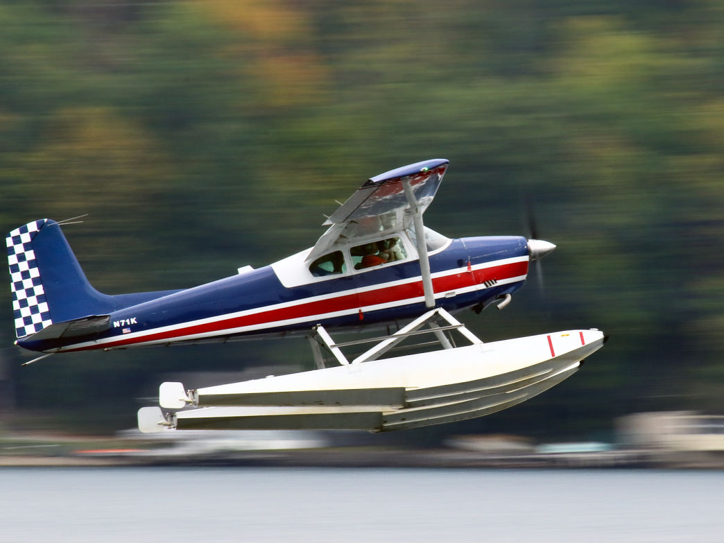 Taking a ride in a seaplane is a popular way to explore Keuka Lake.