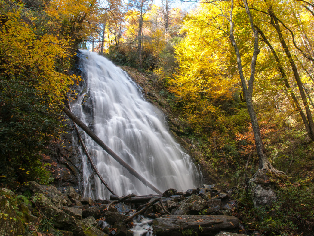 Crabtree Falls on a crisp fall day