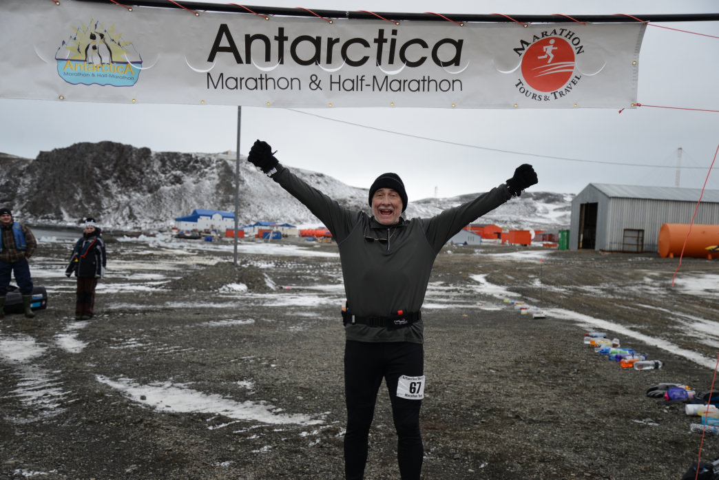 Truman Smith has completed a marathon in every state and on every continent.      Courtesy of Truman Smith