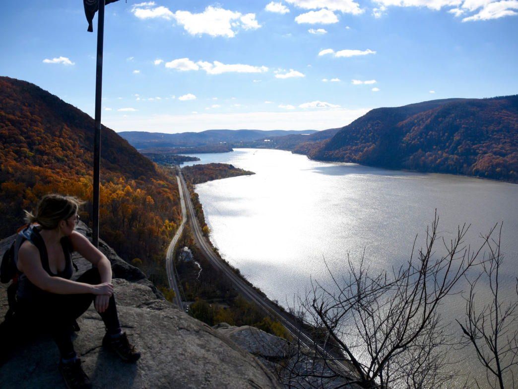 Taking in the views from New York's Breakneck Ridge.