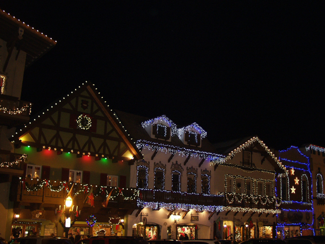 Holiday lights add some extra festive flair to Leavenworth.