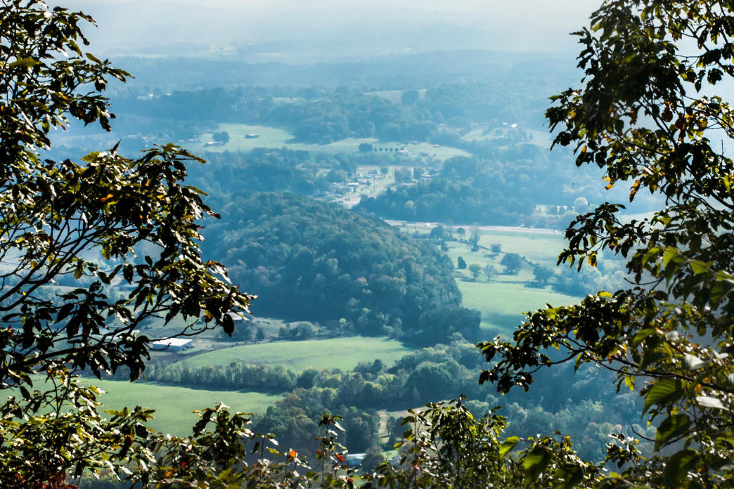 House Mountain, the highest point in Knox County, is lined with rocky outcrops and tucked-away clearings perfect for a romantic picnic for two.     Logan Mahan