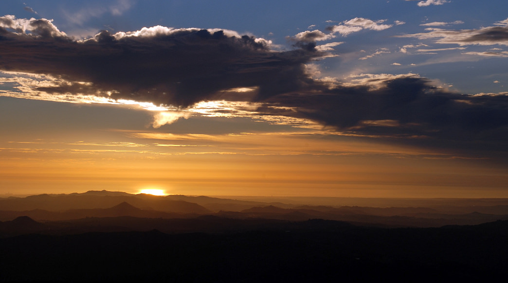 Sunset over the Pacific from the top of Palomar Mountain.