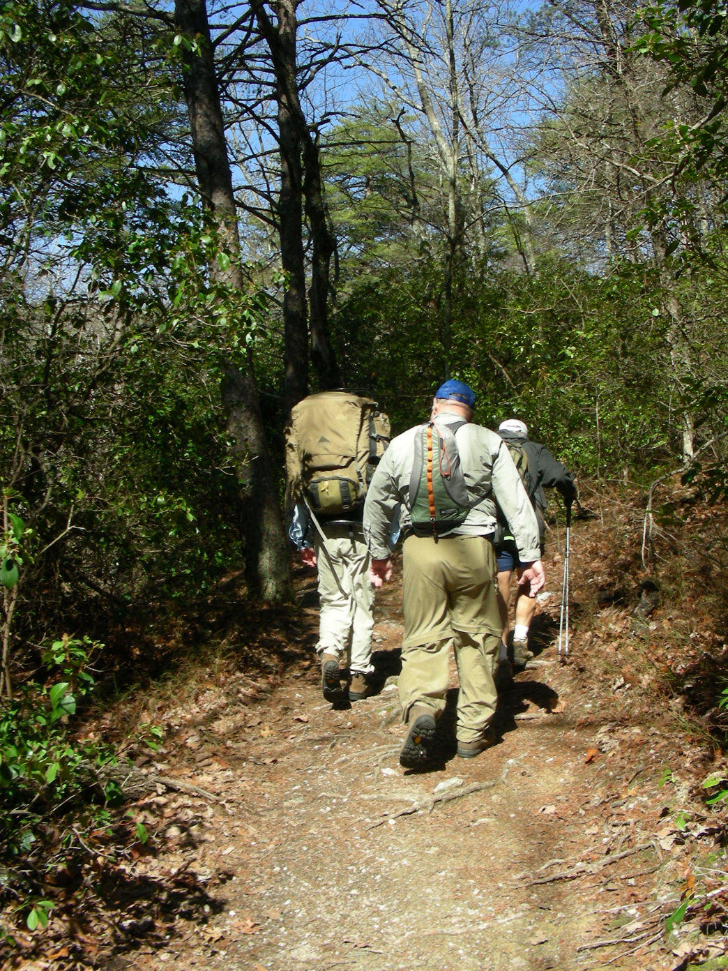 The Pinhoti Trail connects the Appalachian Trail to the southern Appalachians of Alabama.