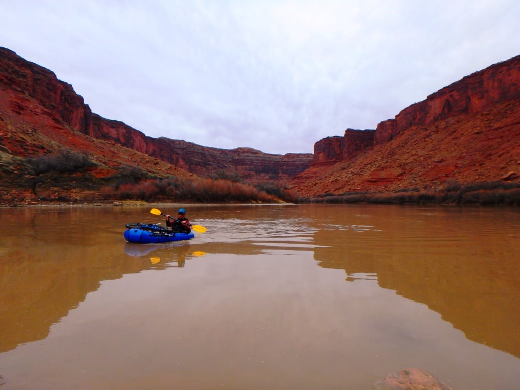 Pre-runoff conditions make for a serene paddle on the Colorado River, just upstream from Big Bend.