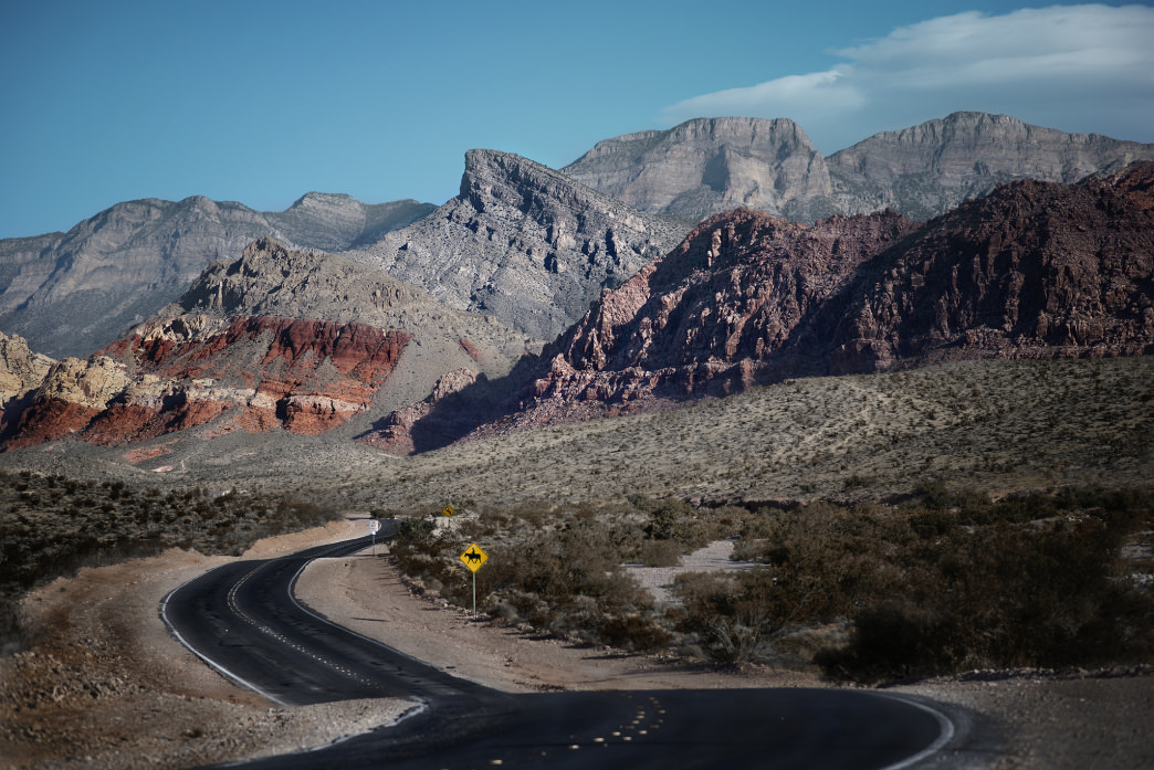 The road into Red Rock Canyon National Conservation Area.