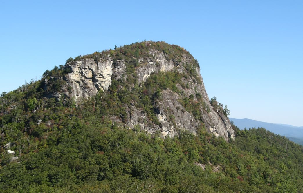 Burke County climbing routes offer high-quality rock and amazing views.