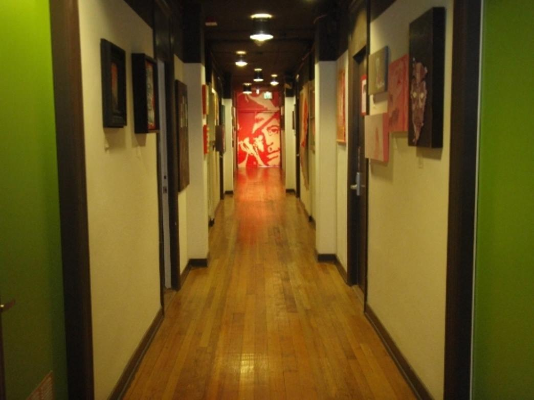 The artistic interior of City Hostel Seattle