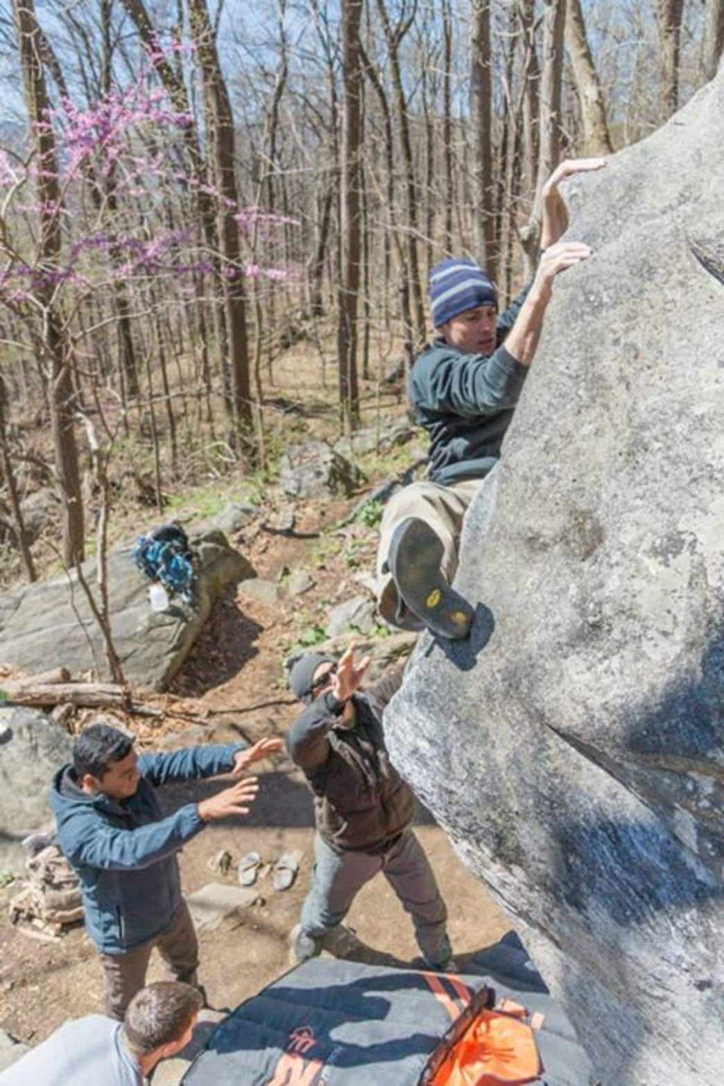 Rumbling Bald has one of the greatest collection of bouldering problems in the area.