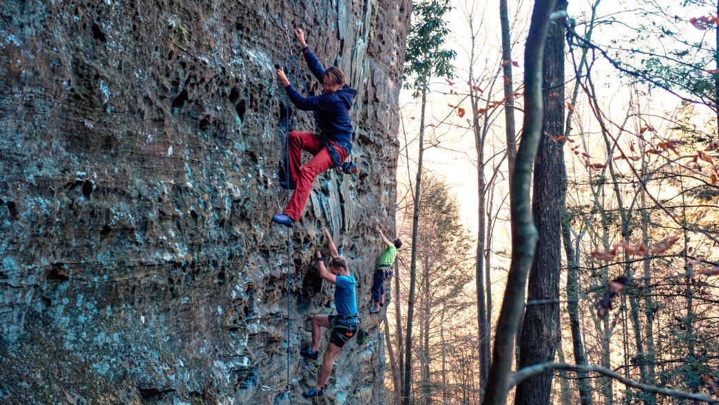The Red River Gorge is a climbing hot spot.