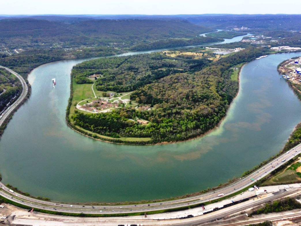 Moccasin Bend in early spring.