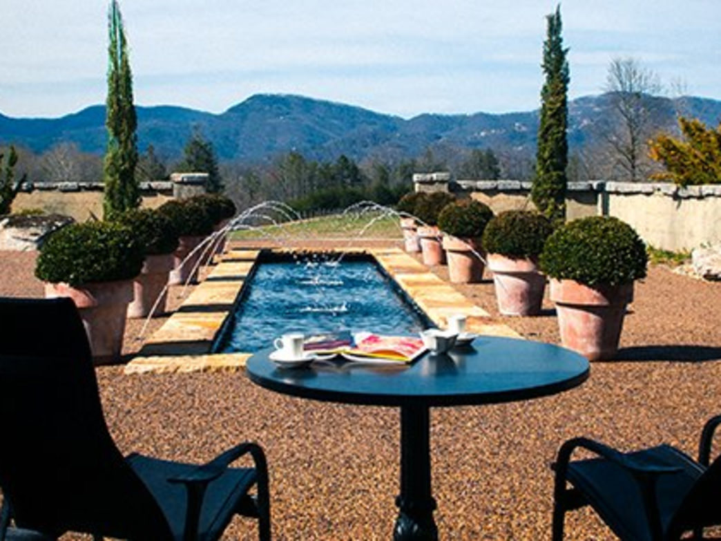 Relax at Hotel Domestique at the foot of the Blue Ridge Mountains.