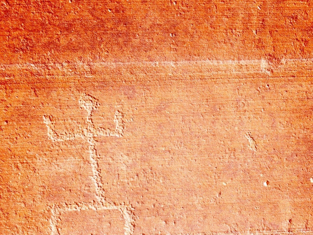 Petroglyphs, like those shown here, are scratched into the surface of the rock, while pictographs are painted on.