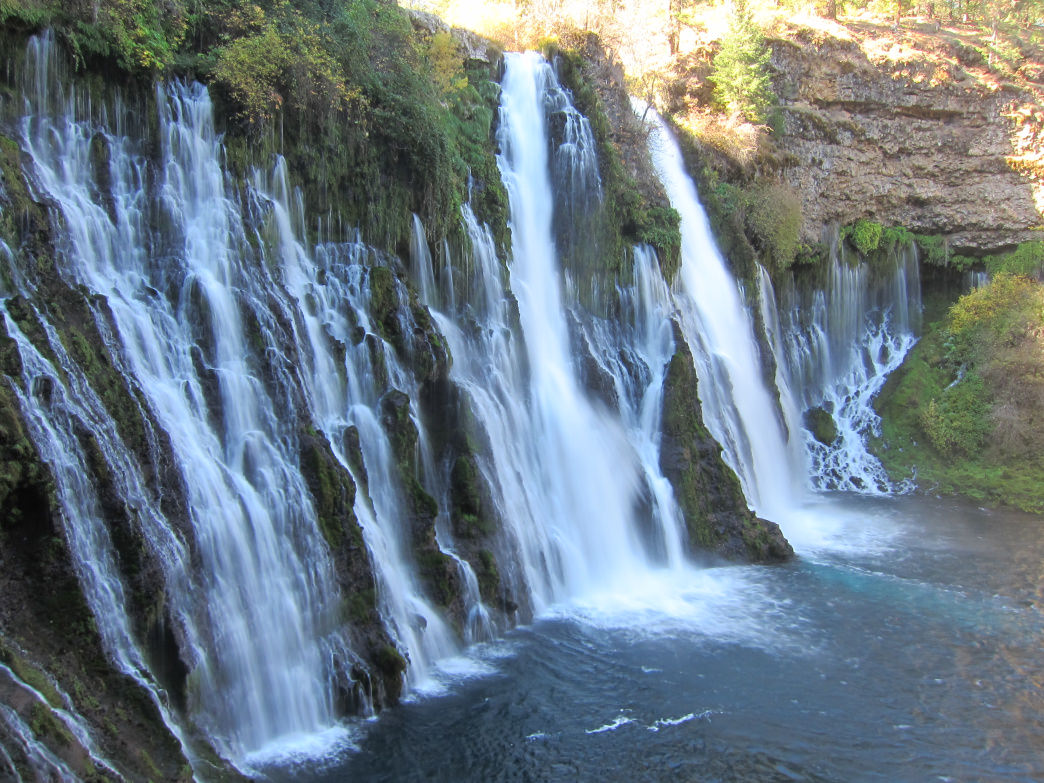 You don't even have to leave the parking lot to see Burney Falls.