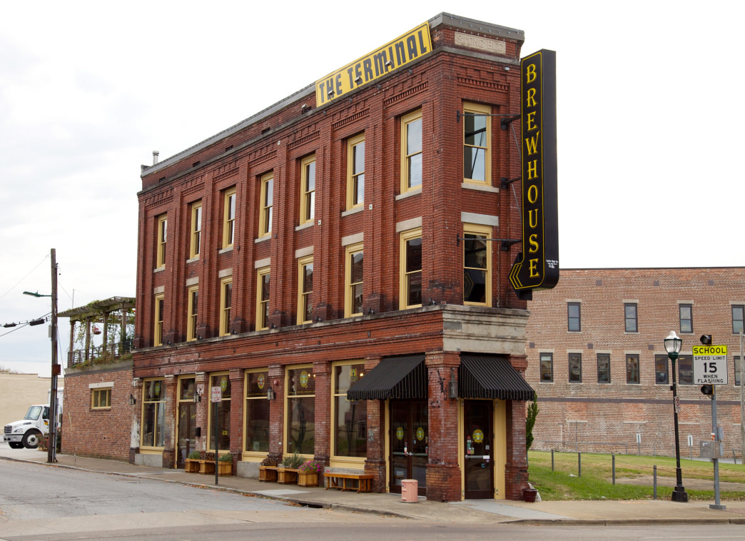 Check out the historic Terminal for burgers, pizzas, and house-brewed beers.