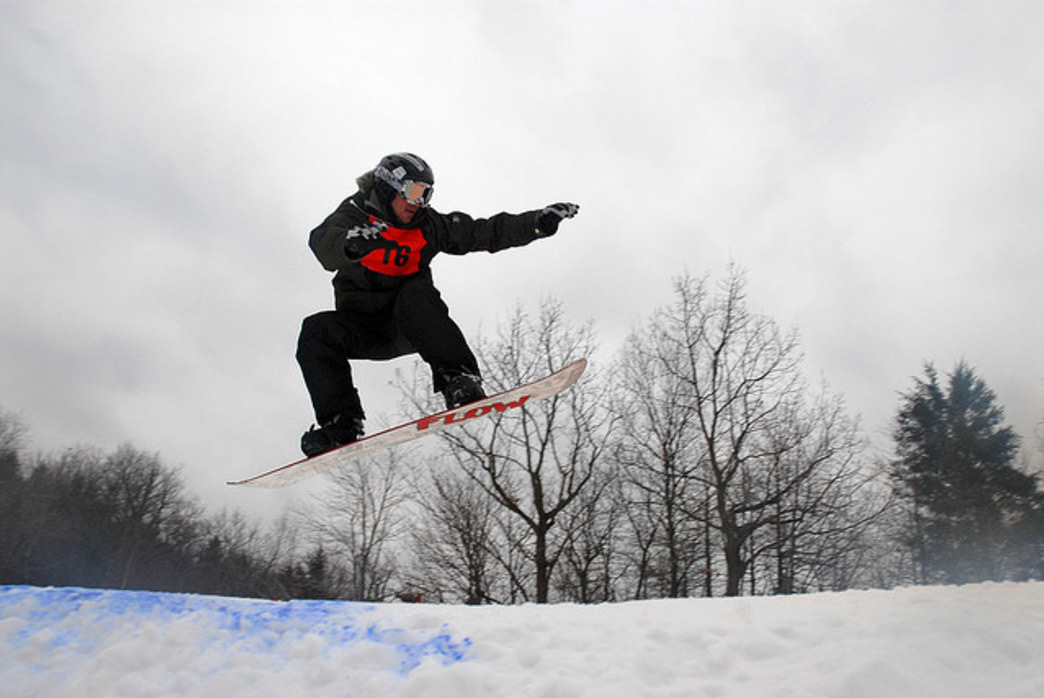Blue Mountain offers 6 terrain parks for every skill level.