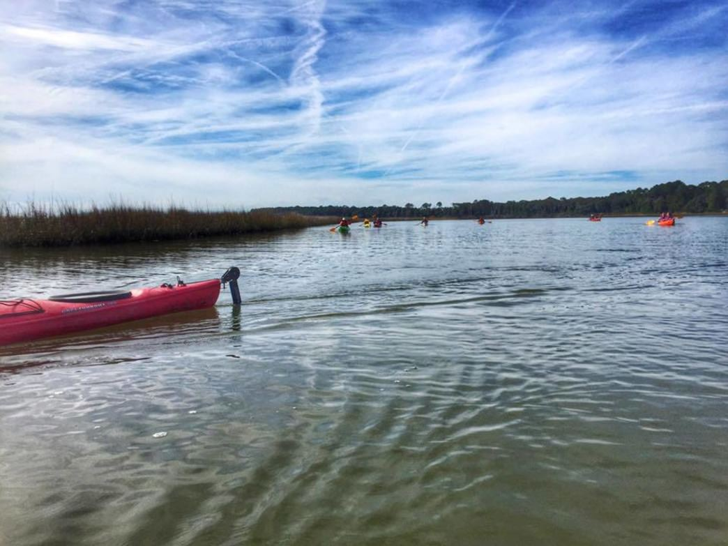 A 1.8-mile coastal paddle takes you to Blackbeard Island.