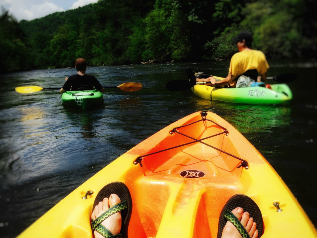 Kayaking along the Chattahoochee River