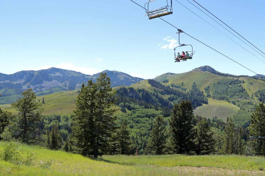 Hikers who climb up to the top of the mountain can take advantage of a free ride back down on Deer Valley Resort's chairlifts.