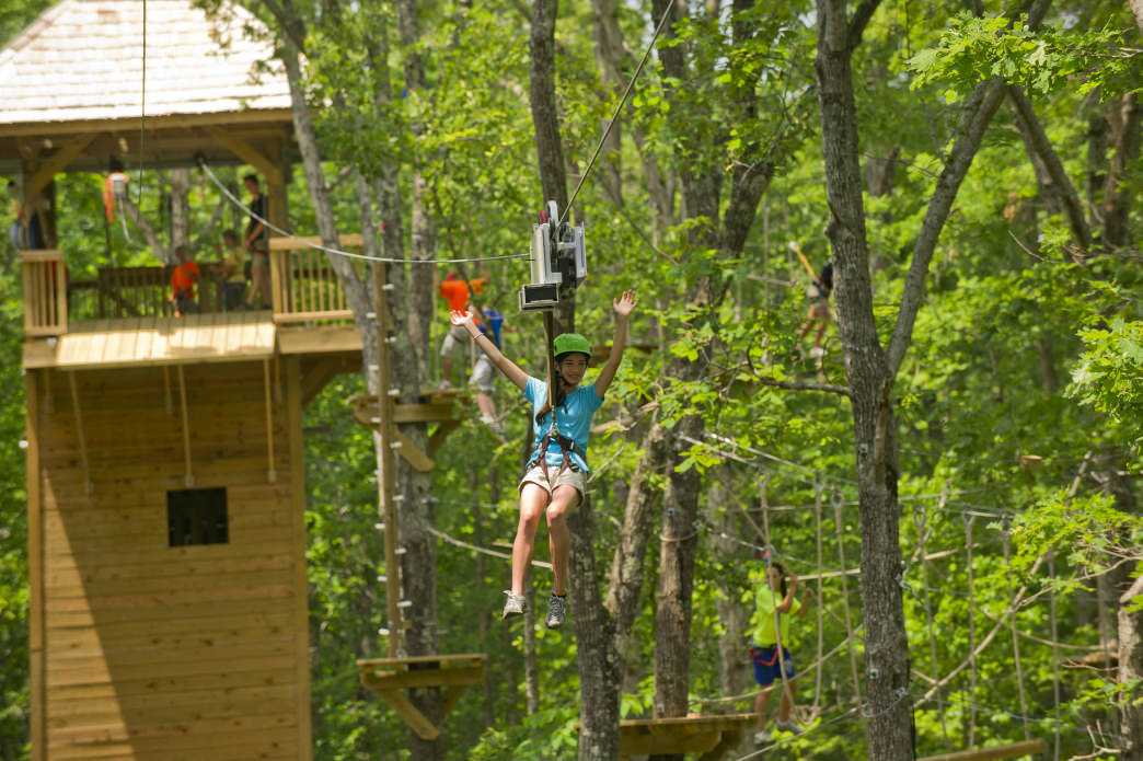 Asheville Treetops Adventure Park offers kids off-the-ground thrills.