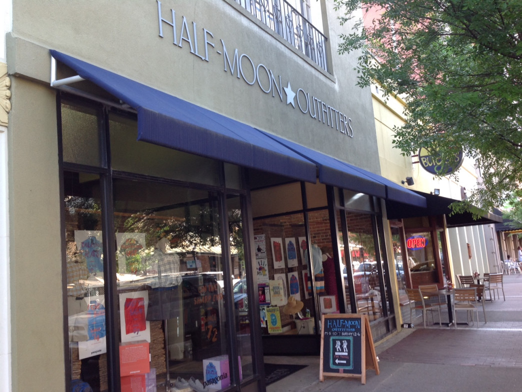 Half-Moon Outfitters sits on Broughton Street, a Savannah avenue of great specialty shops.