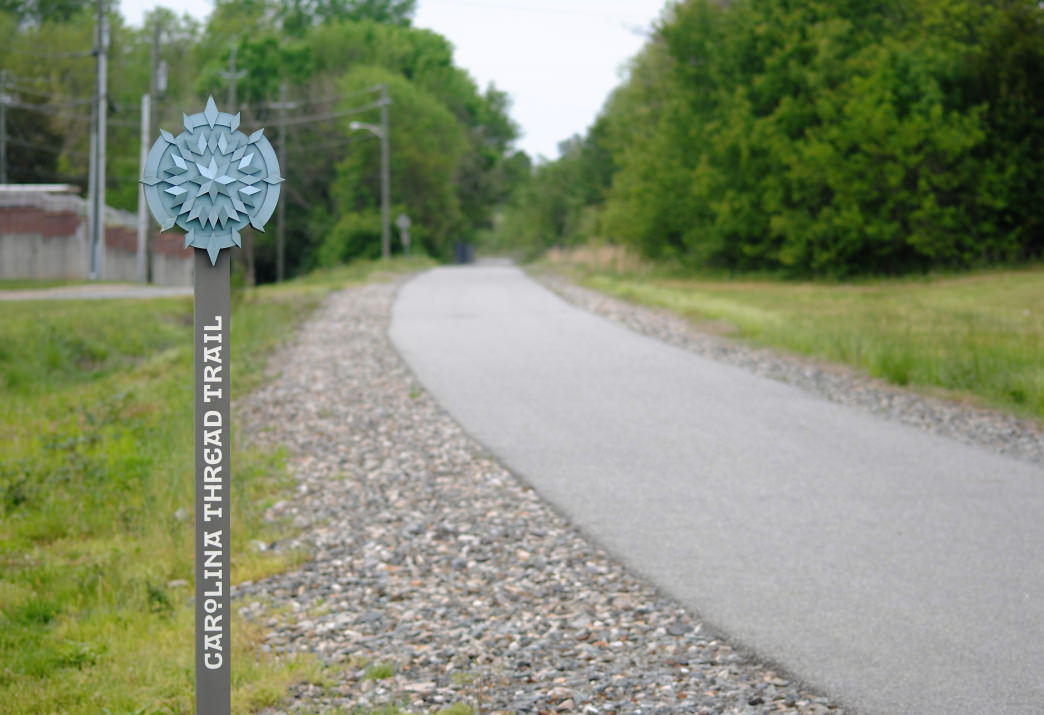 The Carolina Thread Trail is a paved trail for cyclists. 