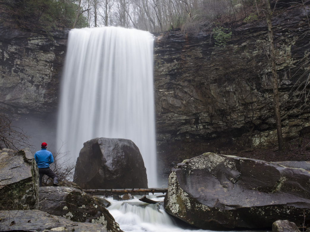Hemlock Falls is one of two major waterfalls in Cloudland Canyon state park.