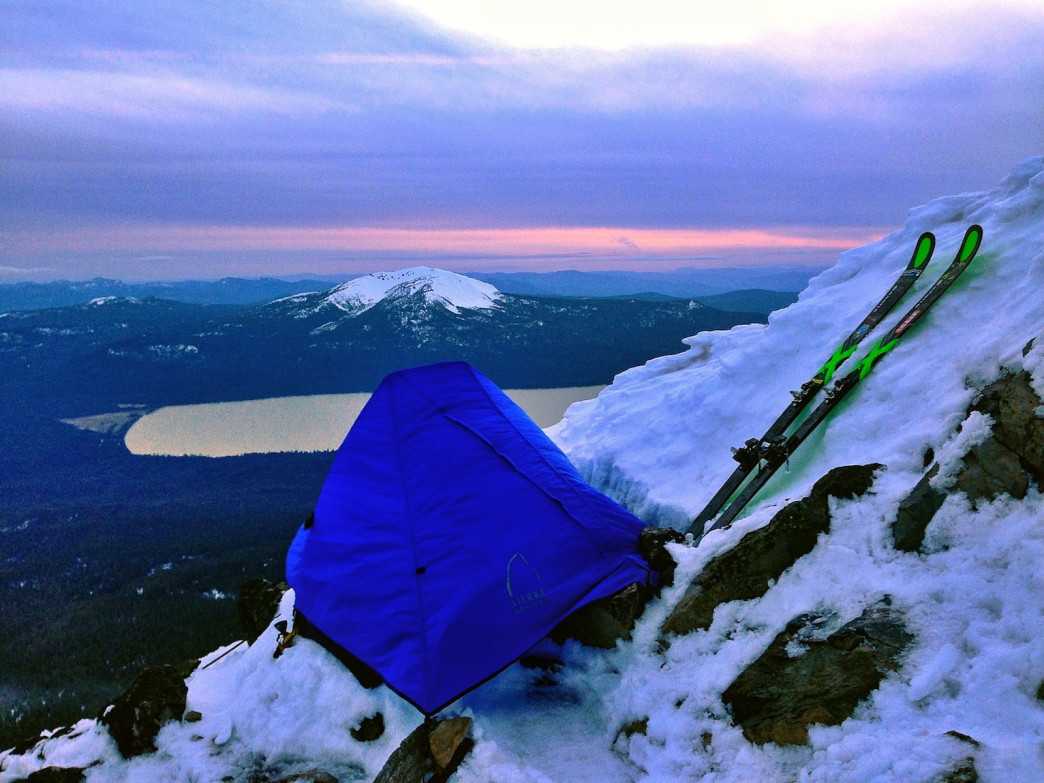 A shortage of tent space on the summit of Oregon's Mount Thielsen didn't deter Kedrowski.
