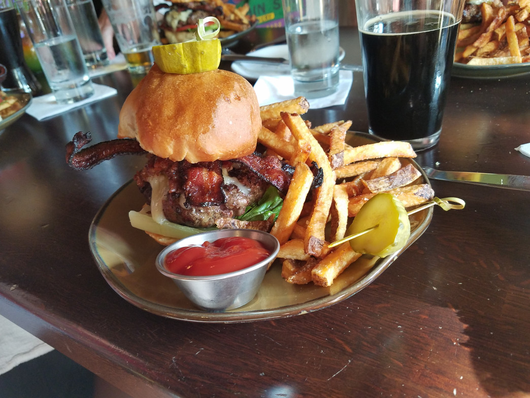 Huge burgers are just the beginning at Wysteria Gastropub.