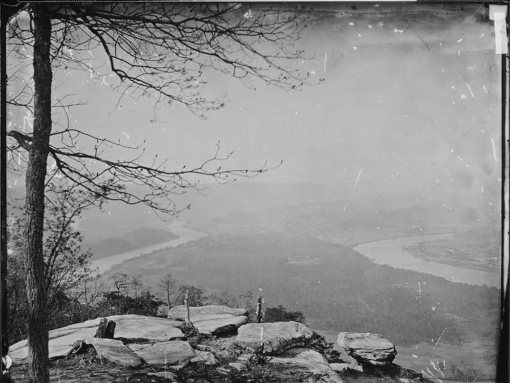 View of Moccasin Bend from Lookout Mountain in 1864