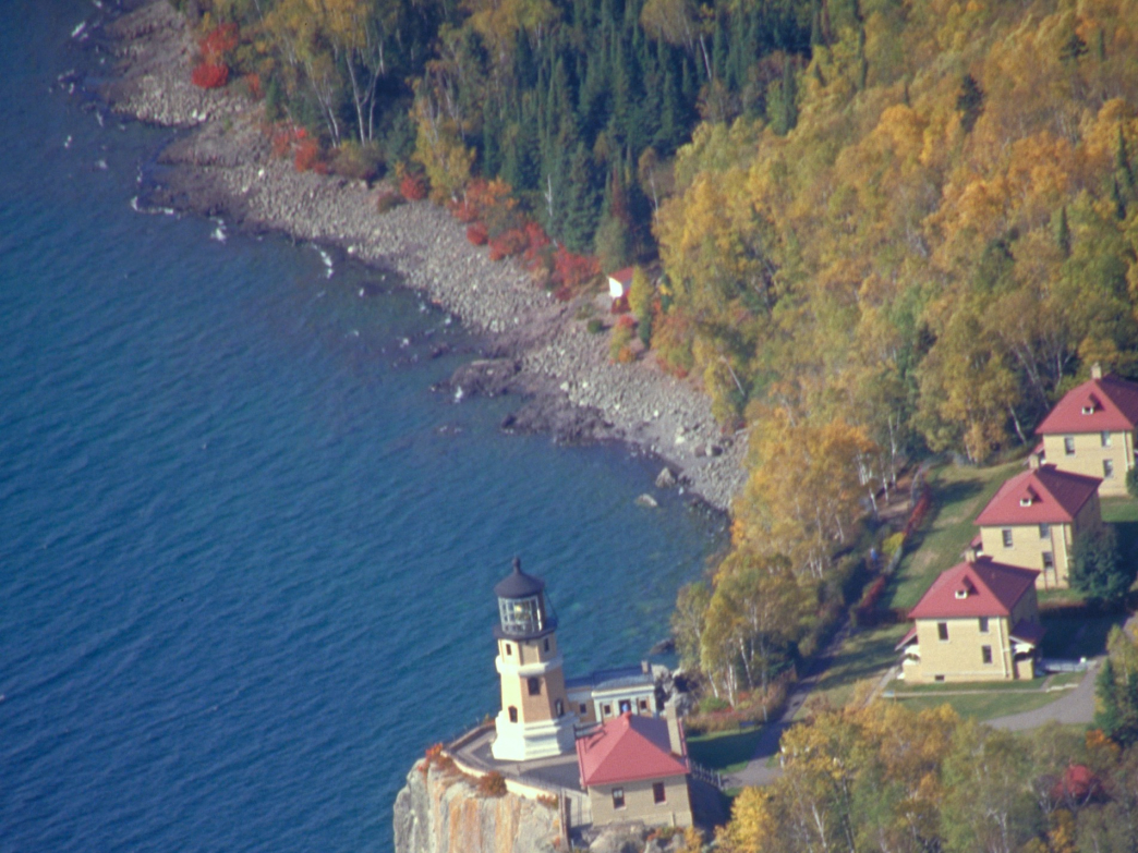 Split Rock Lighthouse overlooks Lake Superior.