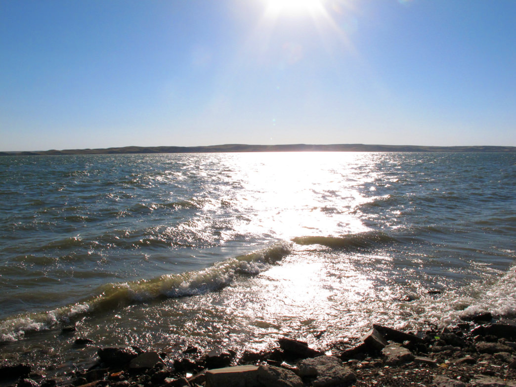 The shores of Lake Oahe.