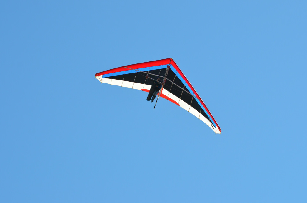 Hang gliding is a thrilling way to experience flight.     Barry Jones
