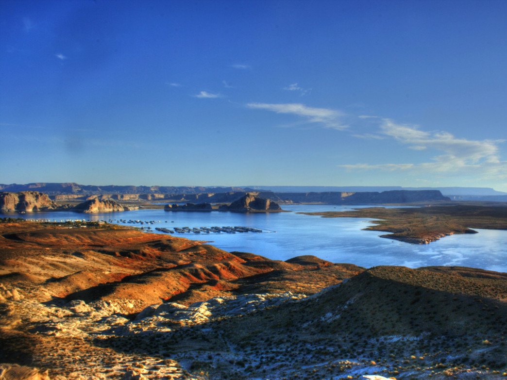 Views of Lake Powell from just outside of Page, Arizona.