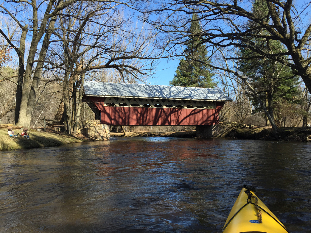 The red covered bridge.