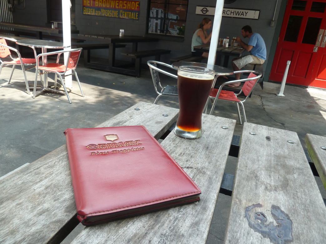 Sitting on the patio at Milltown, sipping one of the huge selection of beers available,, is a great way to wind down an afternoon.