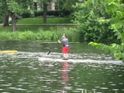 Paddle boarding on the Chain of Lakes