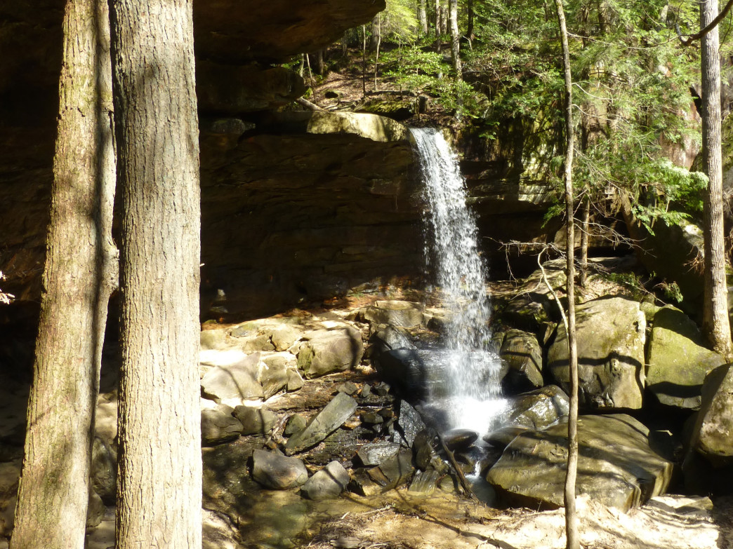 This trail offers several waterfalls in a relatively short distance.