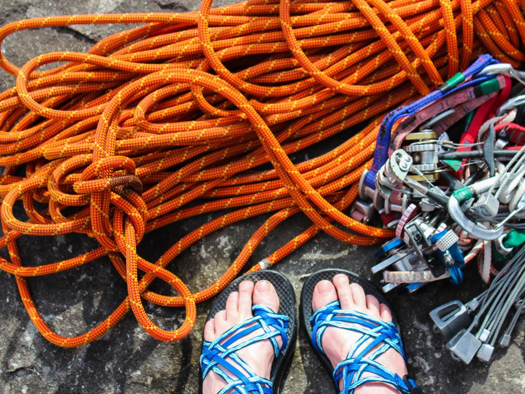 Yes, you can still climb right now. In fact, new routes are going up all over VT as this is being written. And the Chacos, good no matter the time of year.