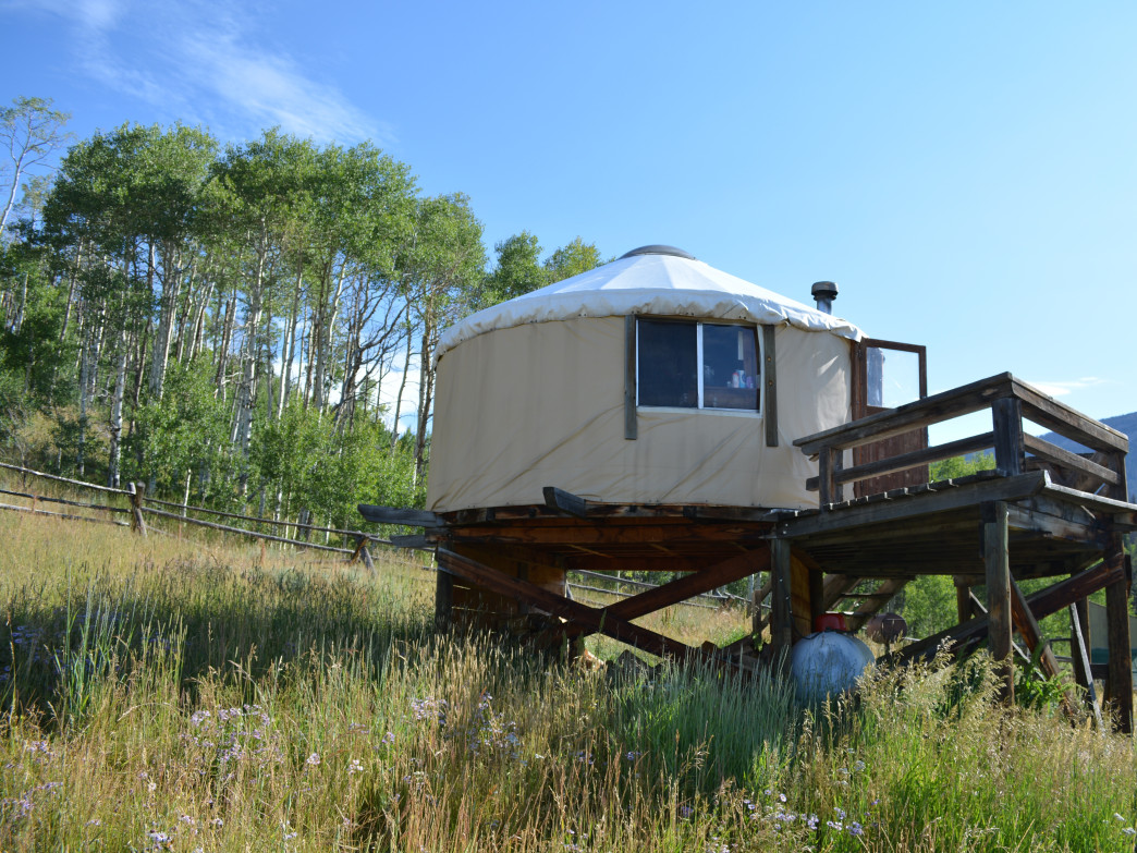 North Fork Canadian Yurt in Colorado State Forest State Park