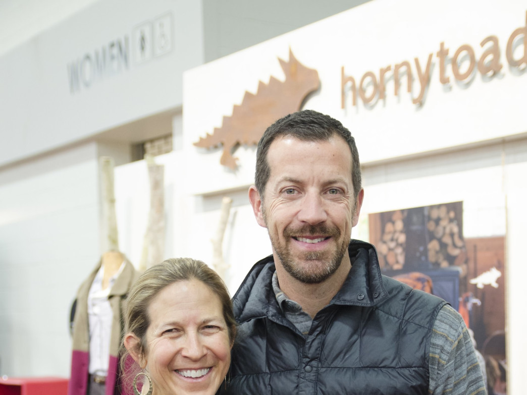 Roanne with Brian Thompson at Outdoor Retailer Winter Market 2014