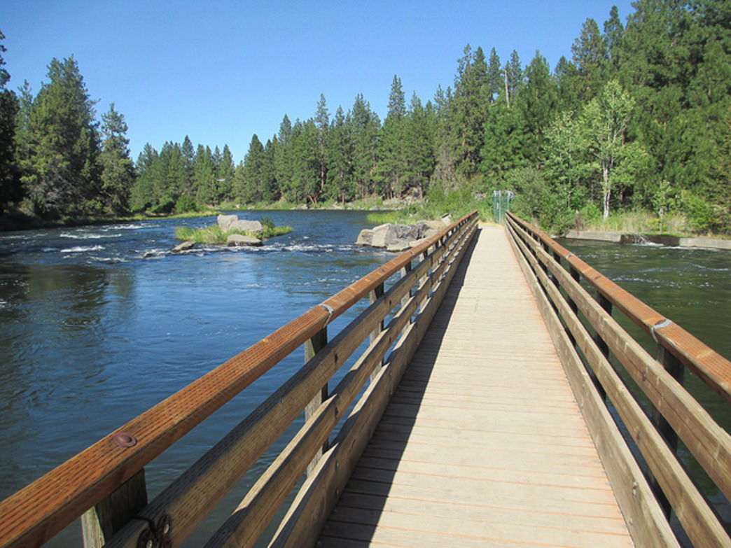 The hiking trail along the Deschutes River near Bend offers beautiful river views and lush forests in (and near) the popular town.