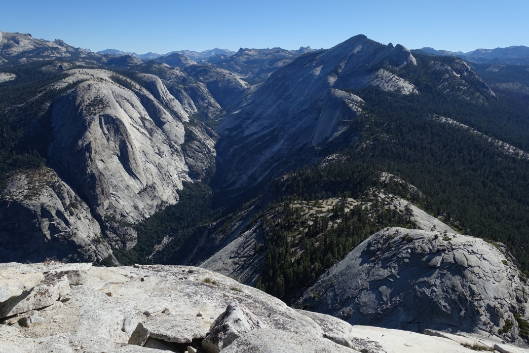 The view from Half Dome.