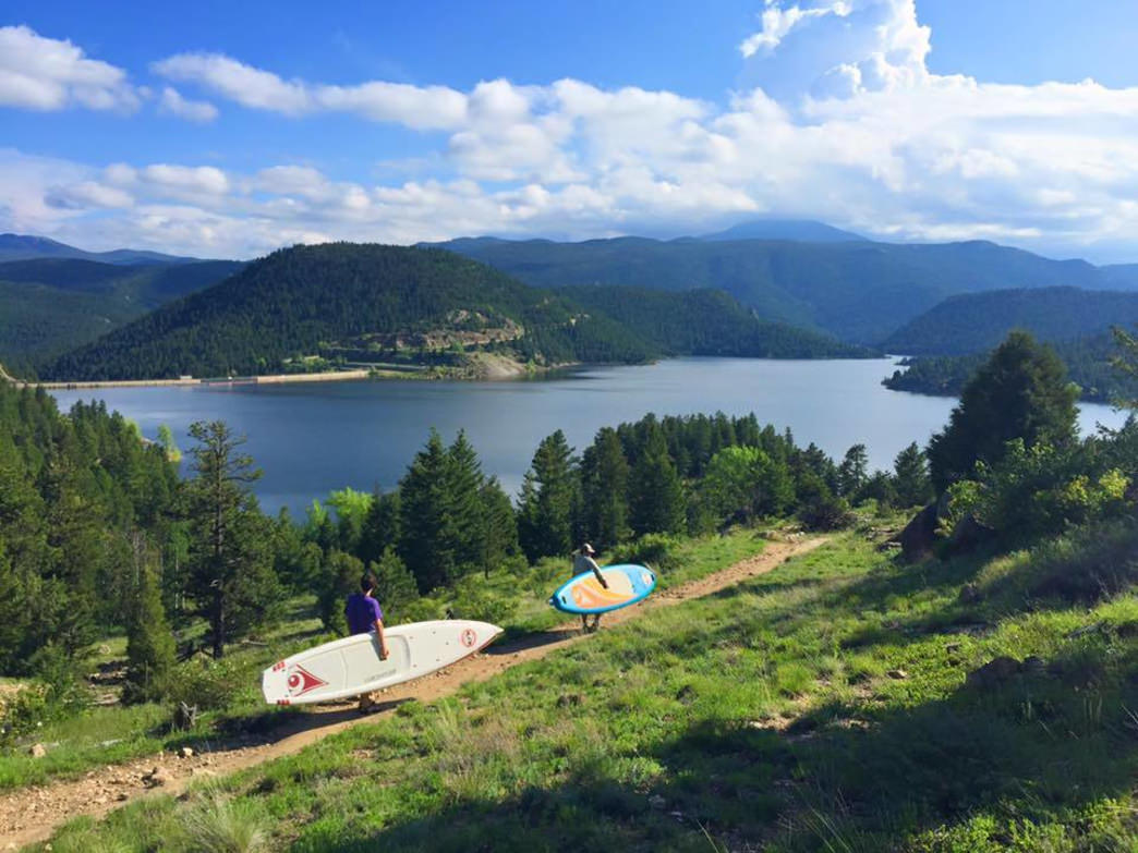 Gross Reservoir is gorgeous, but beware of the hike back to your car.
