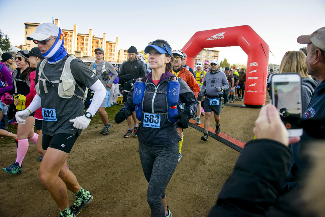 Kristin sets out on her first 100 mile event, the Run Rabbit Run.