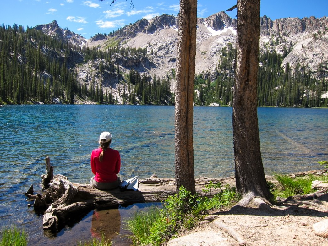Sawtooth Lake is a perfect place to rest after a days hike.