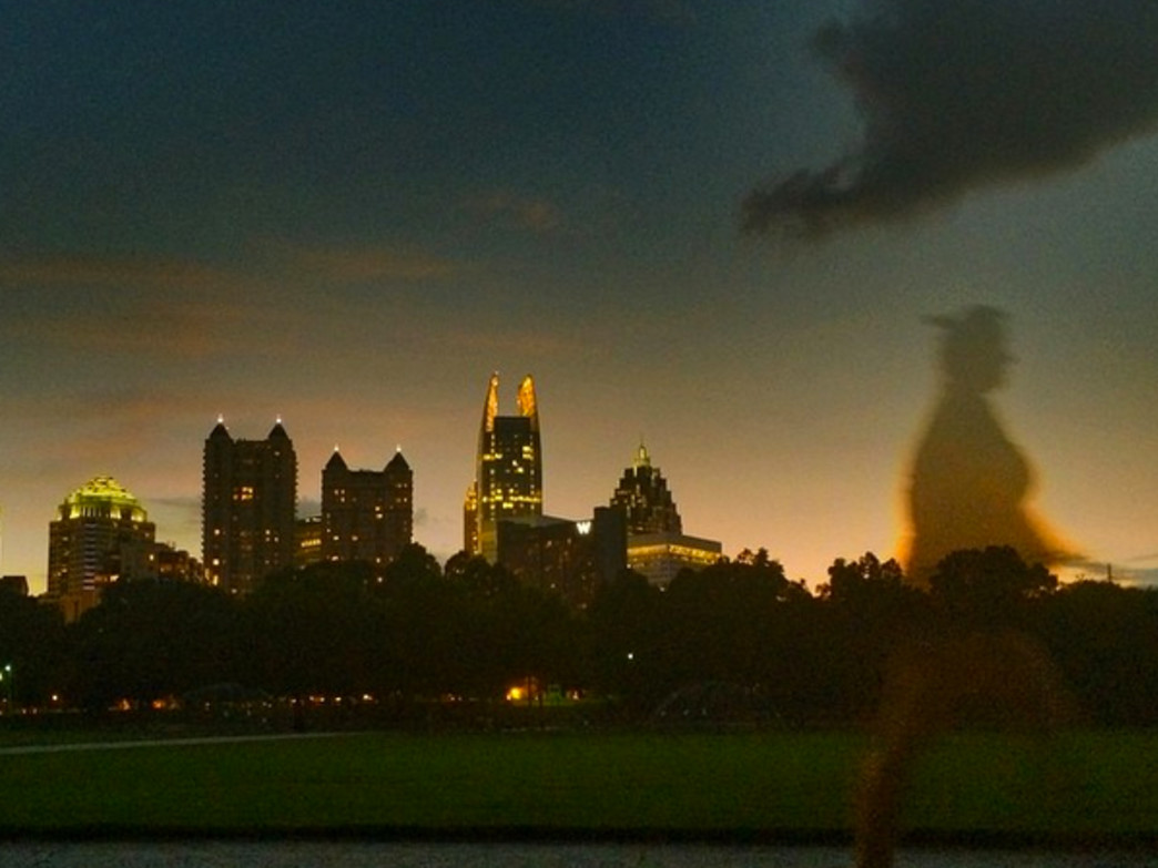 Piedmont Park at night.